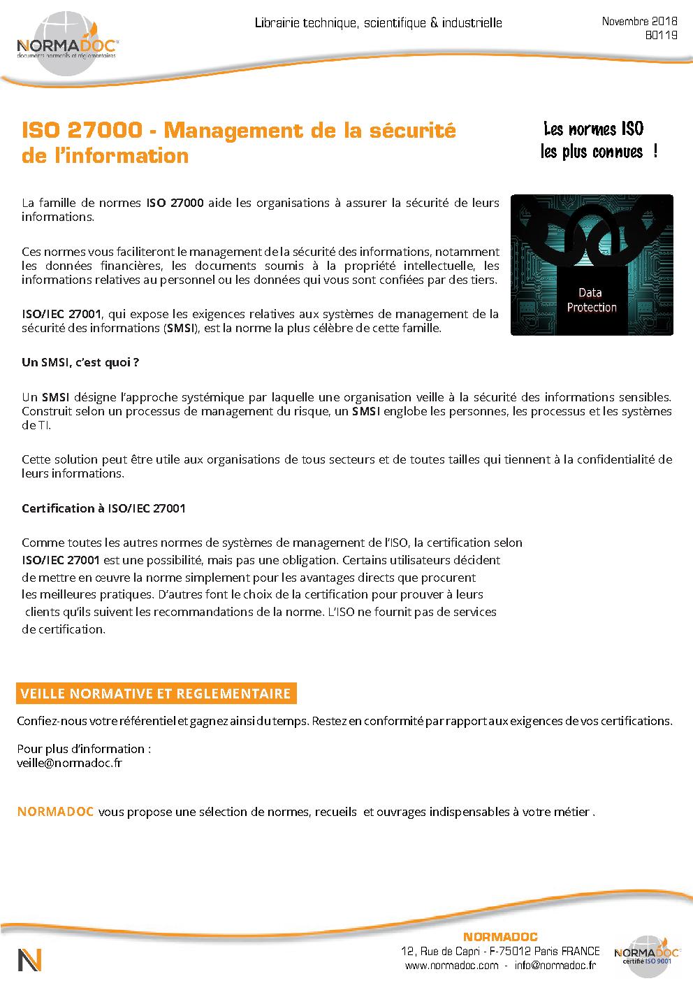 norme iso 27001 pdf francais