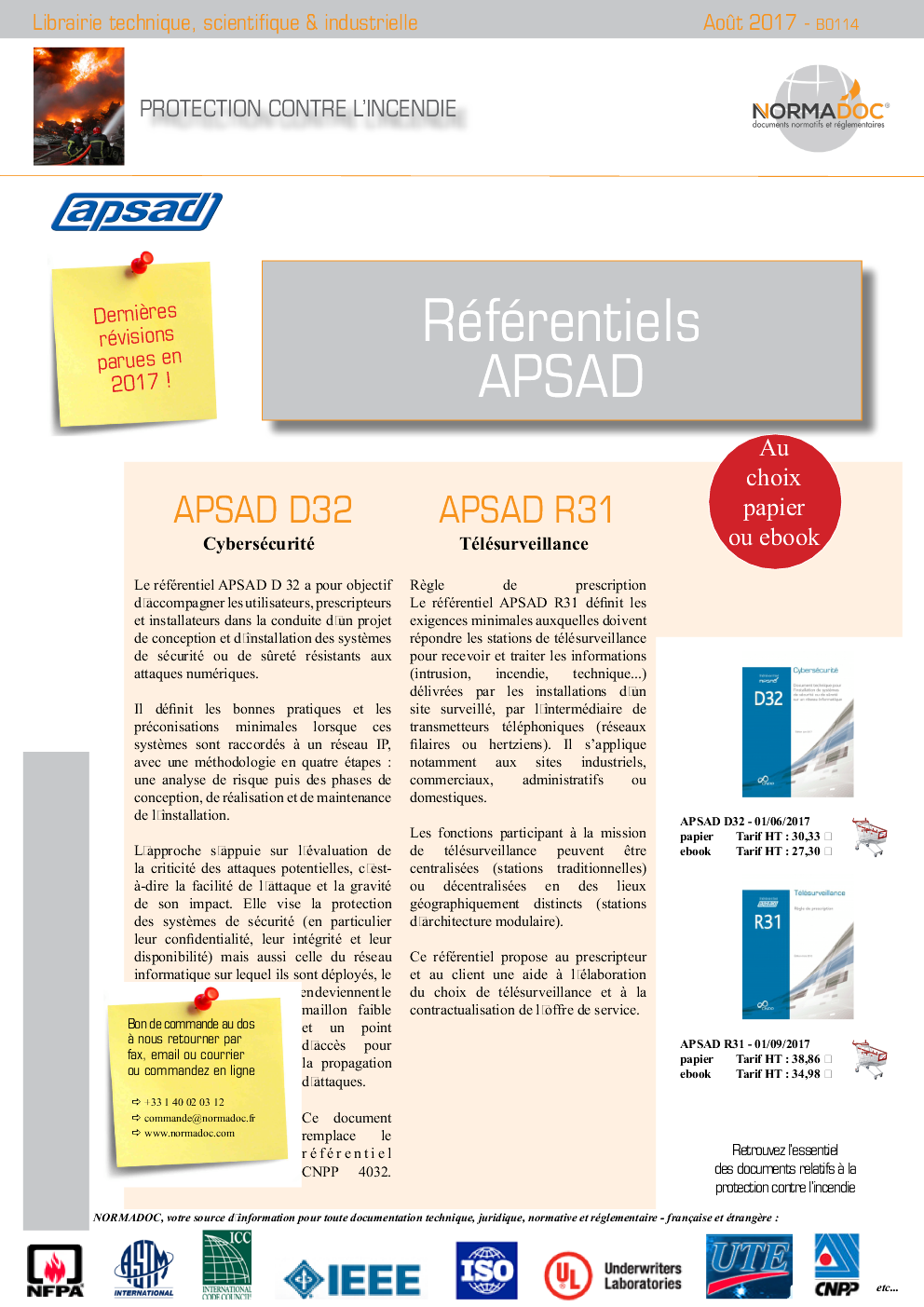 APSAD - Security - Detection - Fire Extinguishers