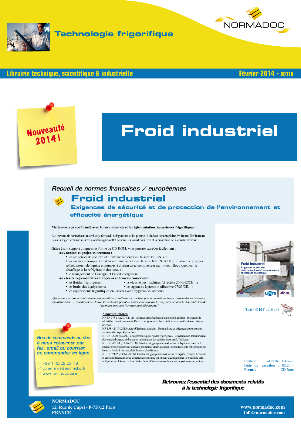 Industrial Refrigeration / Froid Industriel
