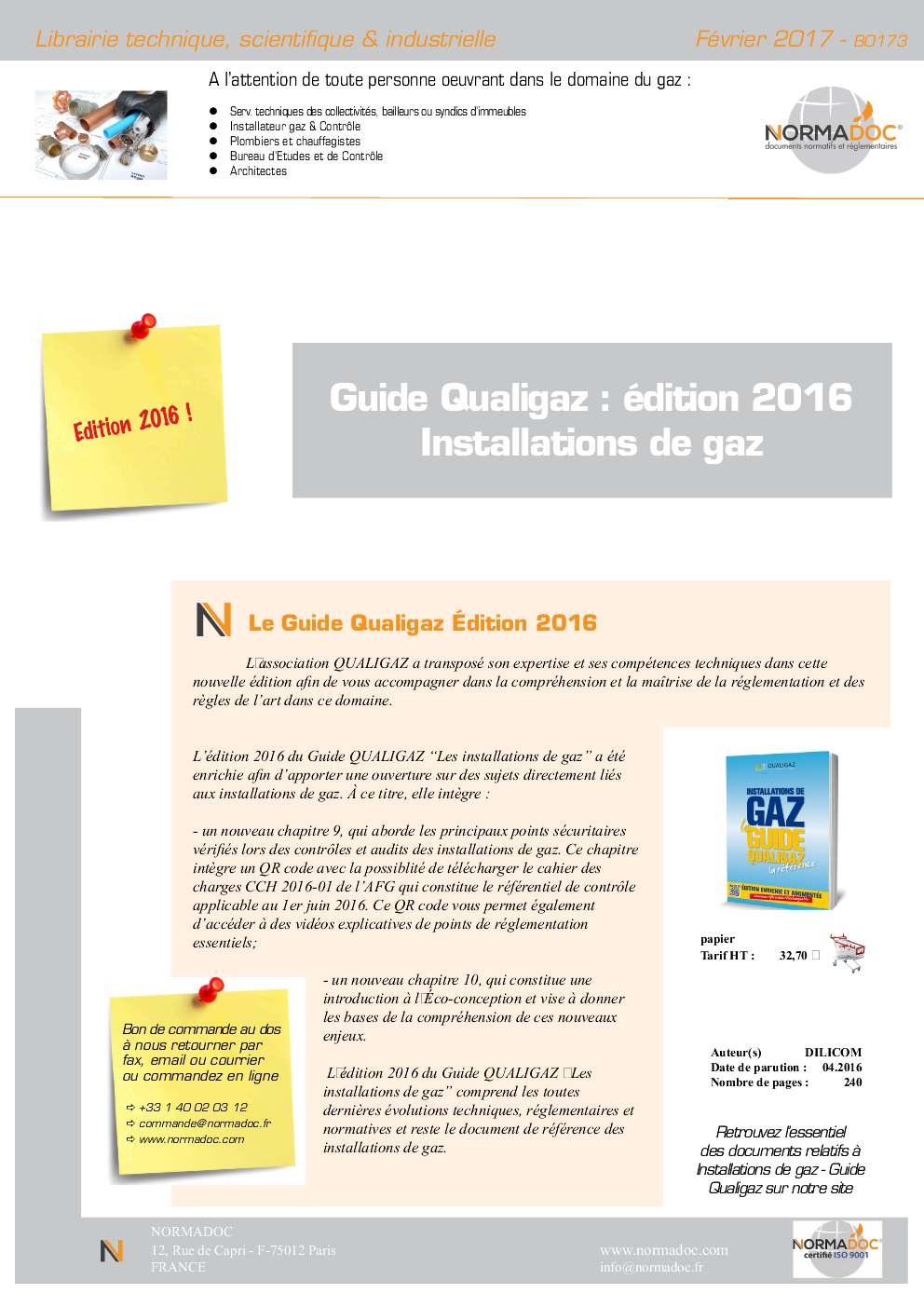Diagnostics and Gas installations - Qualigaz