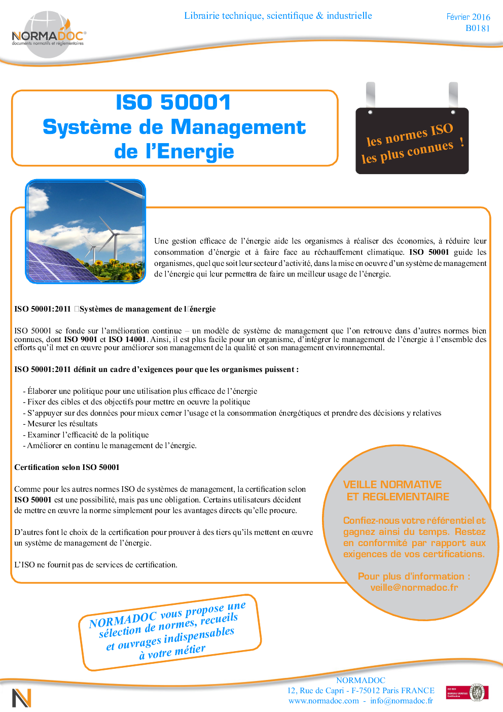 ISO 50001: EMS - Energy Management System