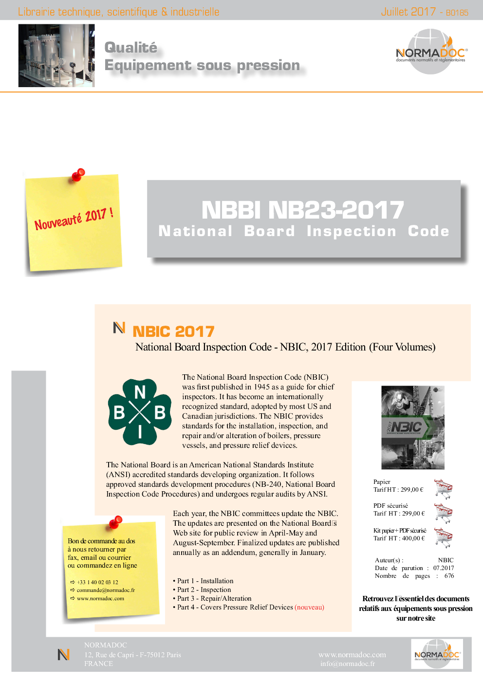 NBIC 2017 - National Board Inspection Code