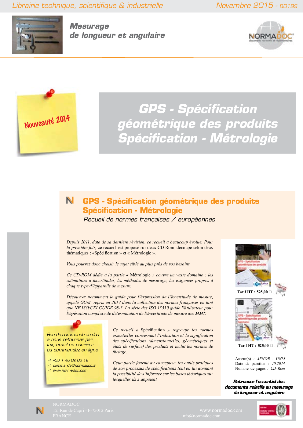 Geometric Product Specification (GPS)