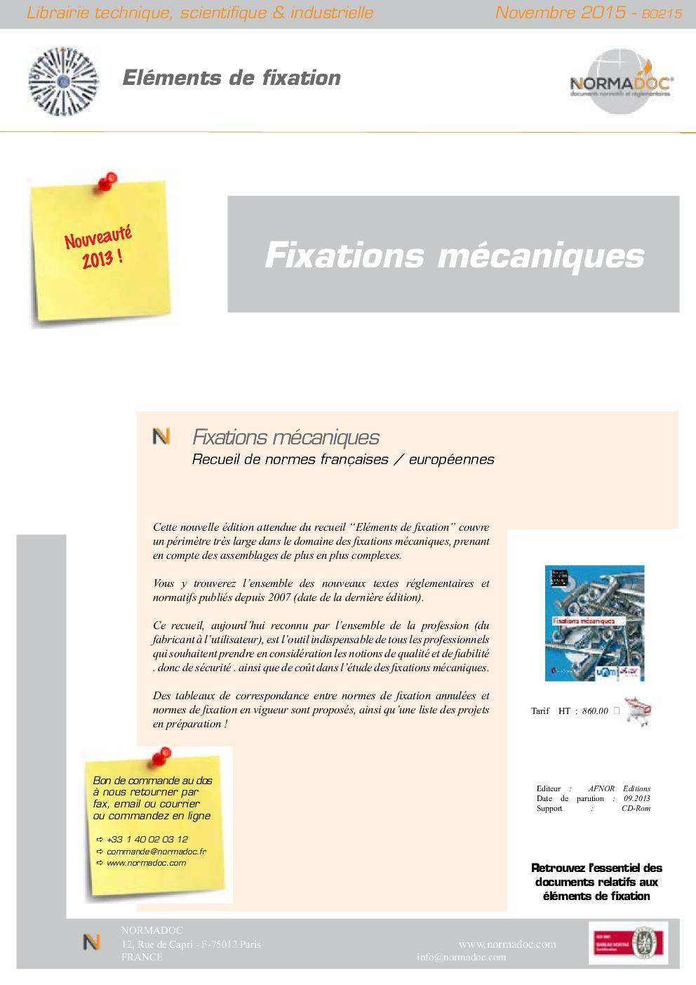 Fasteners / Eléments de Fixation