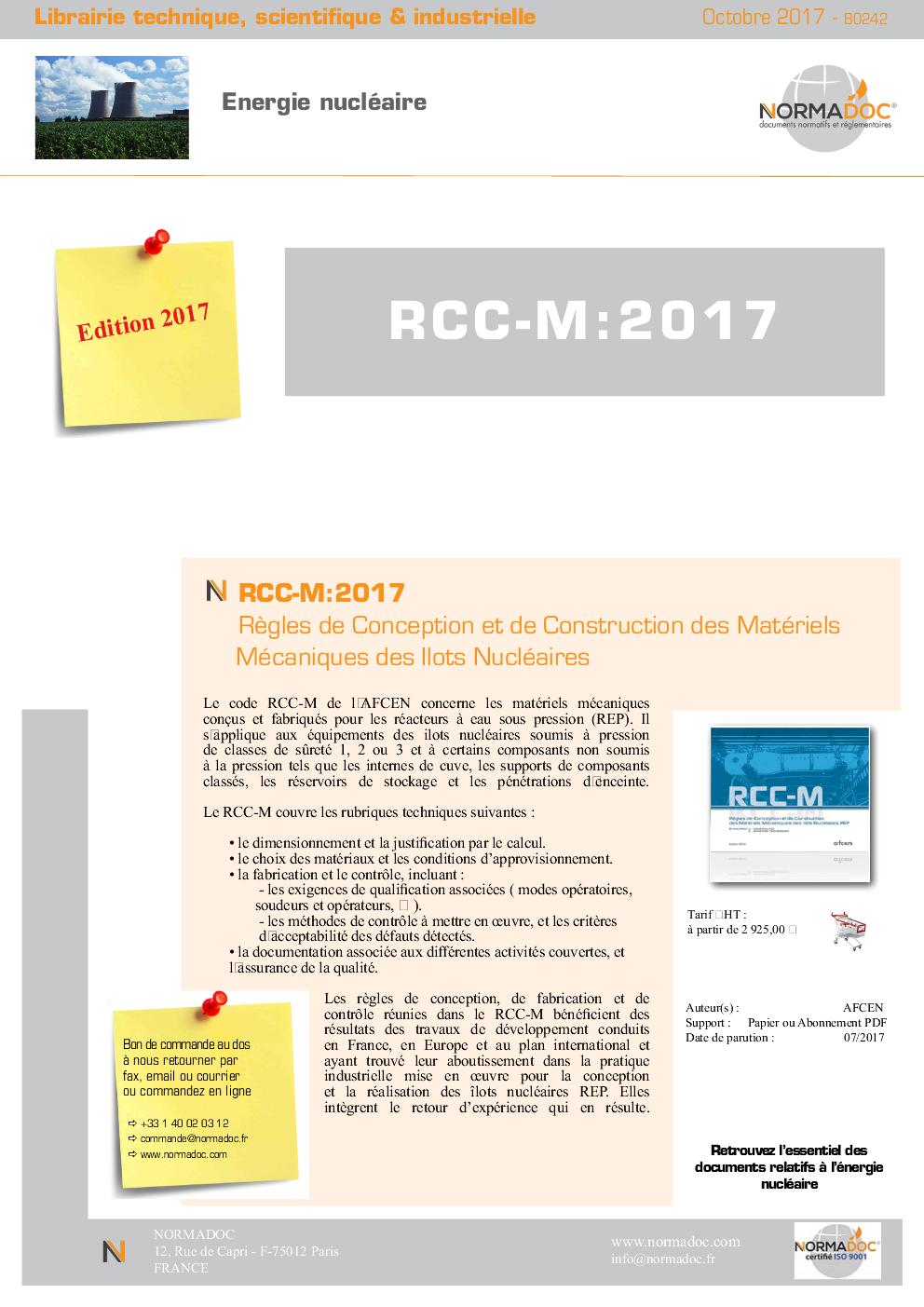 RCC-M 2016
