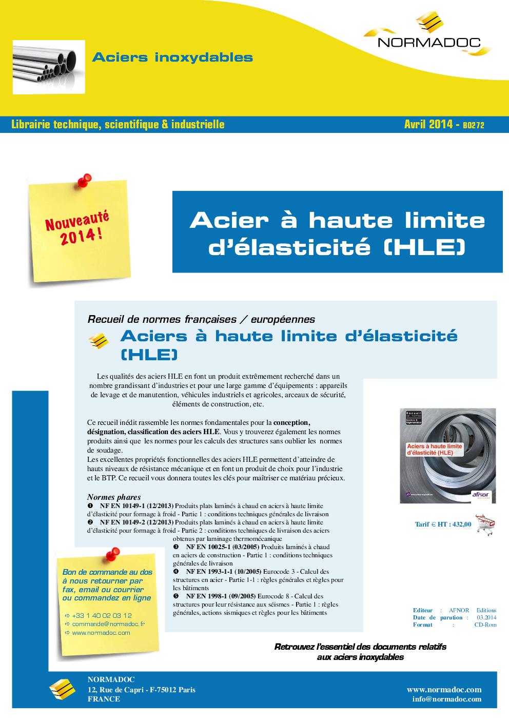 High yield strength steels / Acier à Haute Limite d'élasticité (HLE)