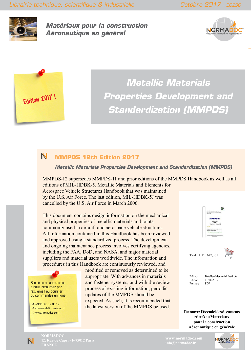 Metallic materials properties development and standardization (MMPDS)