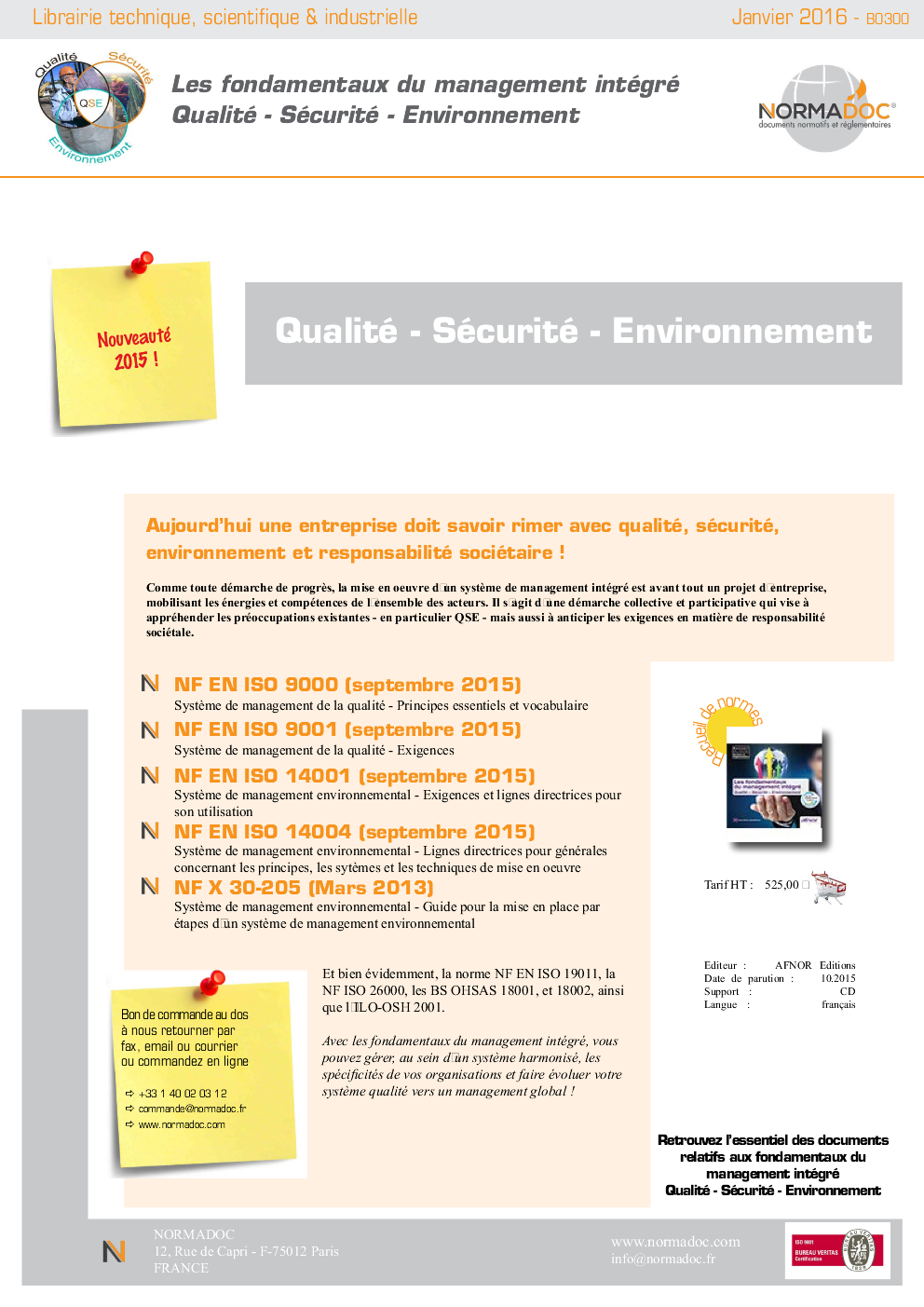 Quality - Security - Environment
