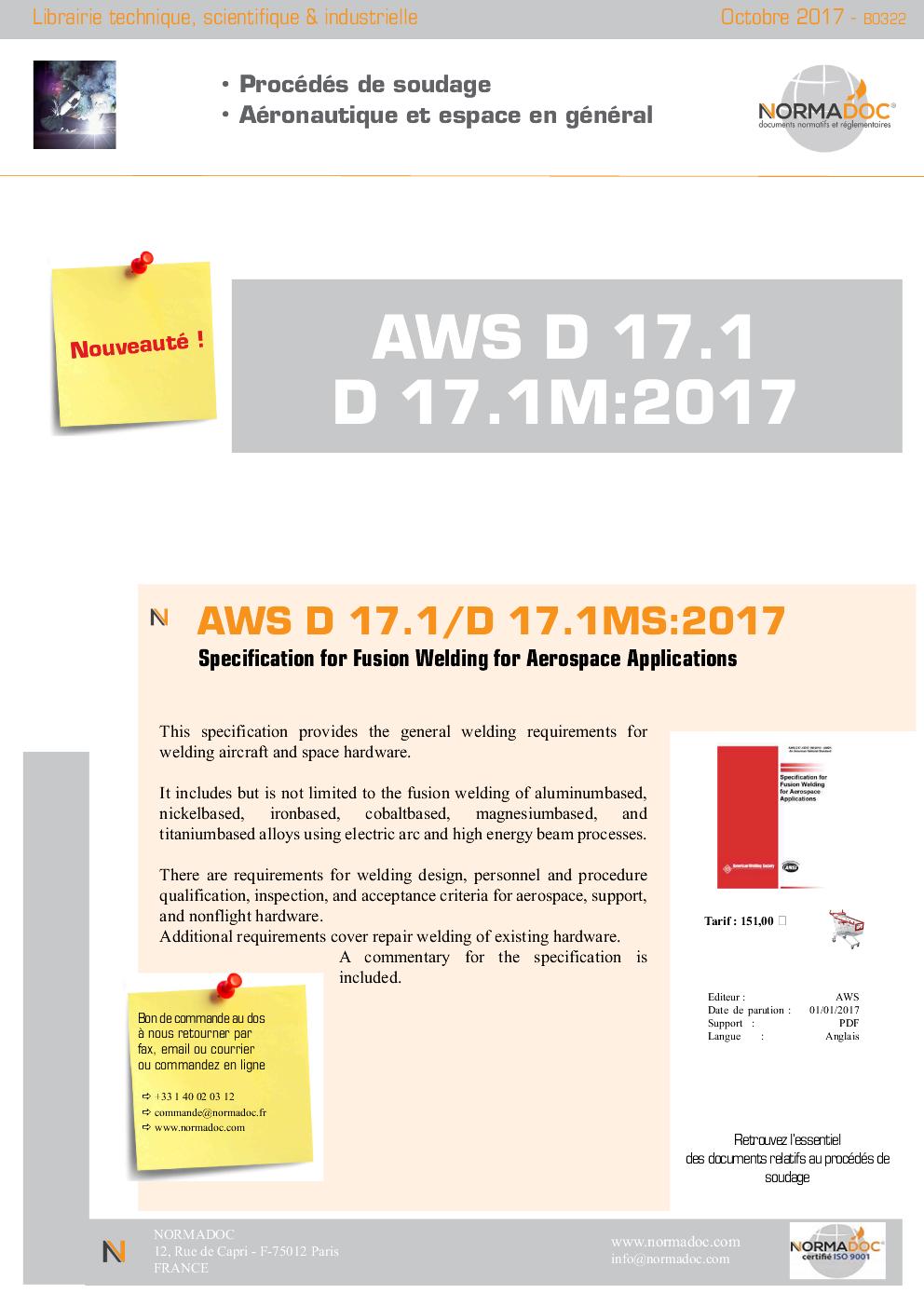 AWS D 17.1/D 17.1M:2017