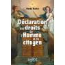 La declaration des droits de l'homme et du citoyen