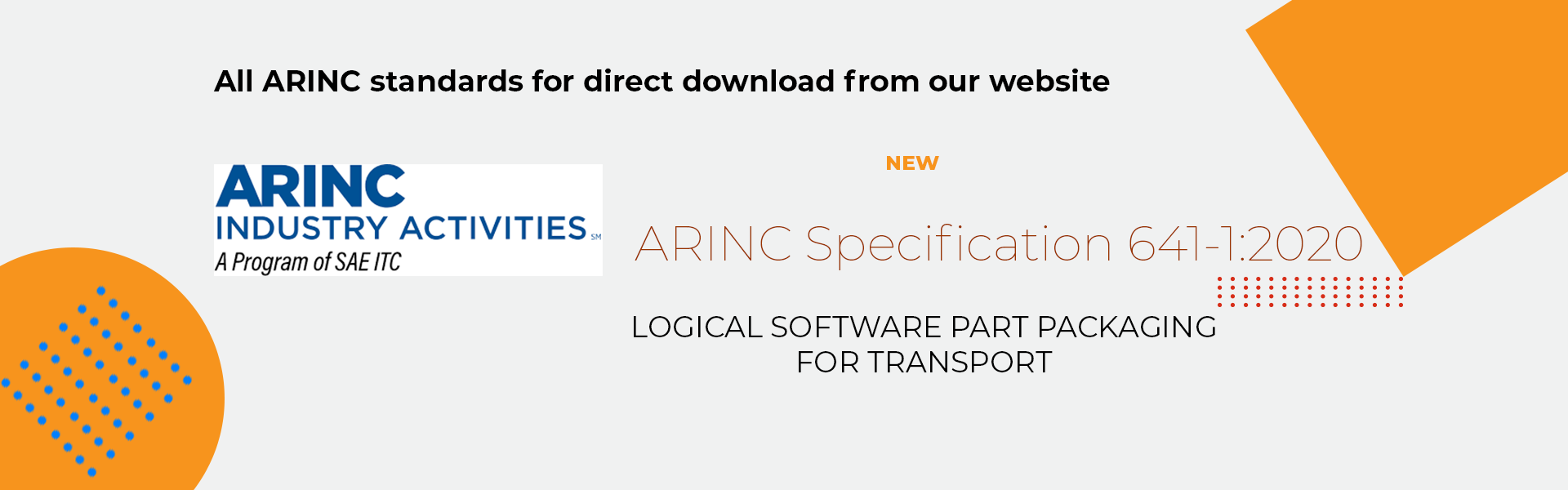 ARINC Industry Activities standards