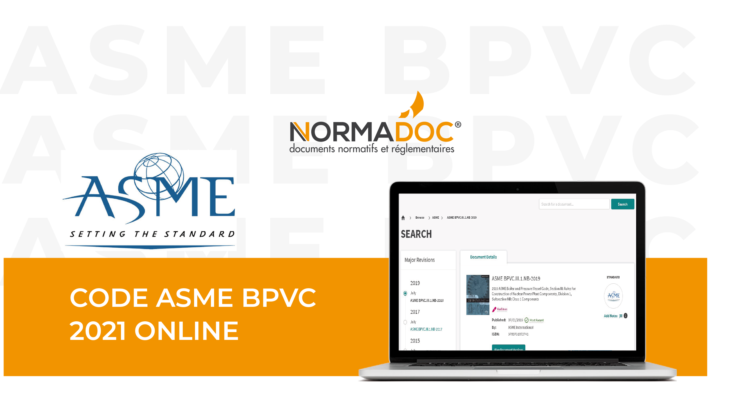 Bandeau Code ASME BPVC 2021