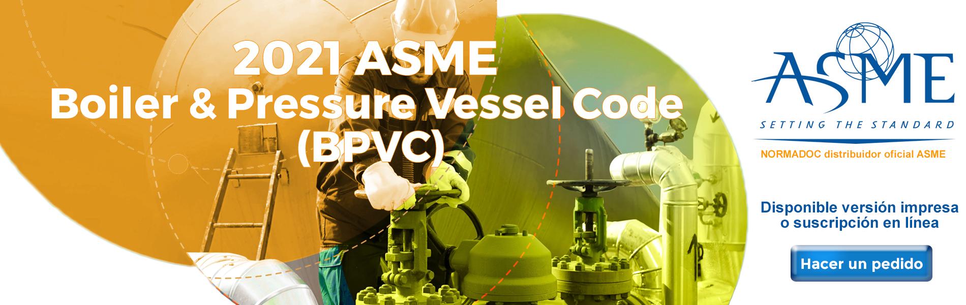 Bandeau ASME BPVC Code 2021 ES
